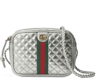 Gucci Quilted Metallic Leather Crossbody Bag