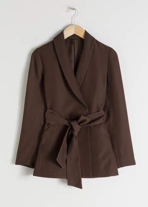 And other stories Belted Long Fit Blazer