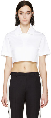 Dsquared2 White Cropped Polo $445 thestylecure.com