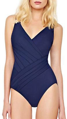 Gottex Landscape Surplice One-Piece Swimsuit $158 thestylecure.com