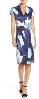 Betsey Johnson Print Scuba Sheath Dress $148 thestylecure.com