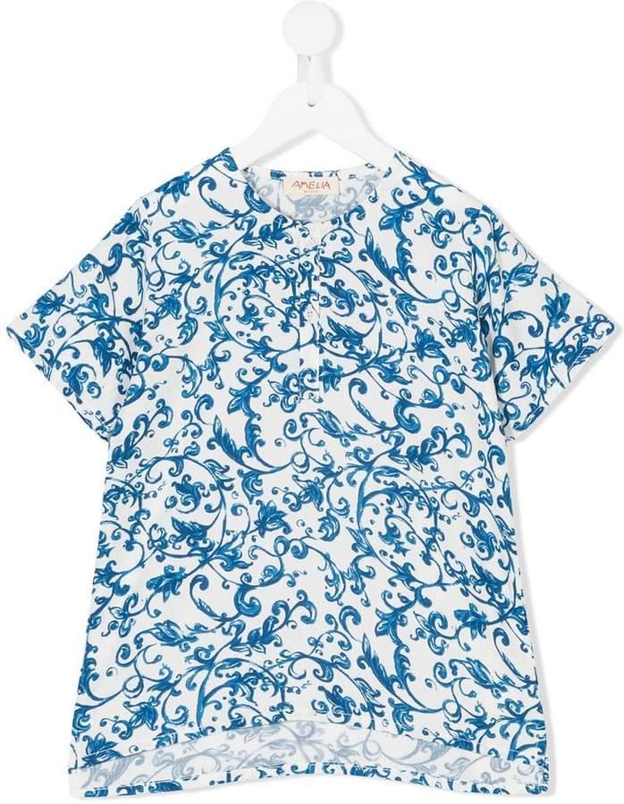 Amelia Milano T-Shirt mit Fantasy-Print