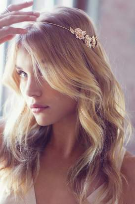 Urban Outfitters Golden Flower Halo Headband $20 thestylecure.com