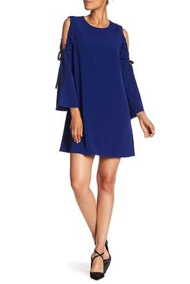 Rachel Roy Cold Shoulder Tie Sleeve Dress