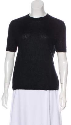 Holly Fulton Mohair-Blend Short Sleeve Sweater