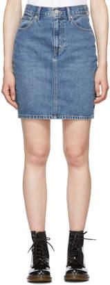 Levi's Levis Blue Mom Miniskirt