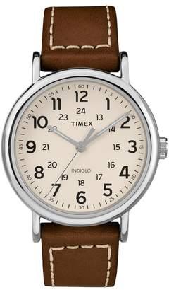 Timex Unisex Weekender Leather Watch - TW2R42400JT