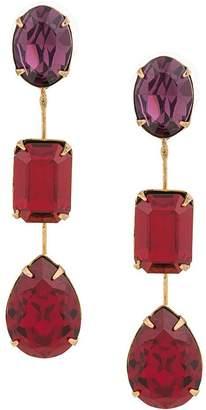 Jennifer Behr multicoloured stone earrings