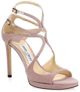 Jimmy Choo Metallic Stiletto Sandals
