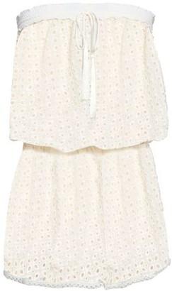 Melissa Odabash Strapless Broderie Anglaise Mini Dress