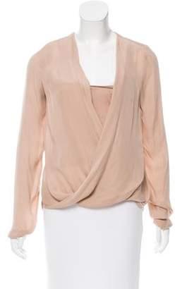 A.L.C. Long Sleeve Silk Blouse