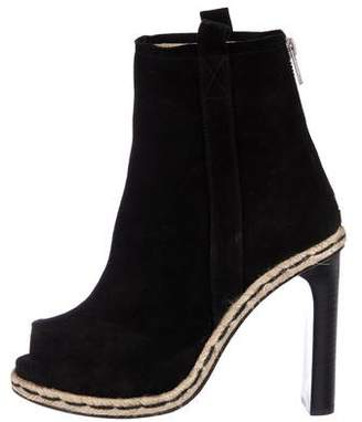 Opening Ceremony Suede Peep-Toe Booties