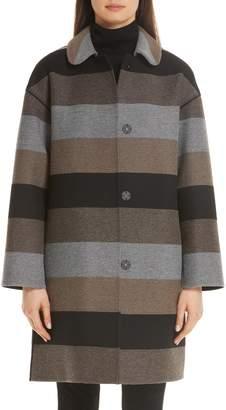 Lafayette 148 New York Vita Stripe Coat
