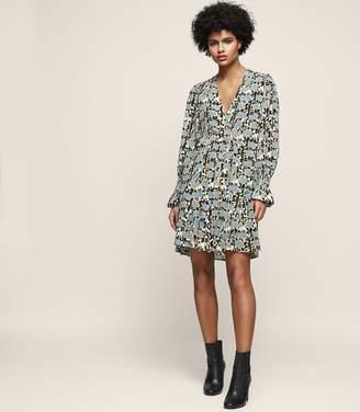 Reiss Hannah Long-Sleeved Printed Mini Dress
