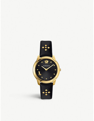 Versace VELR00319 Audrey V yellow gold-coated stainless-steel quartz watch