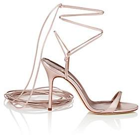 Manolo Blahnik Women's Prishipla Metallic Leather Sandals - Gold Leather