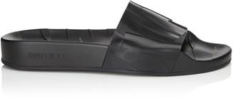 Jimmy Choo REY/F Black Rubber Slides