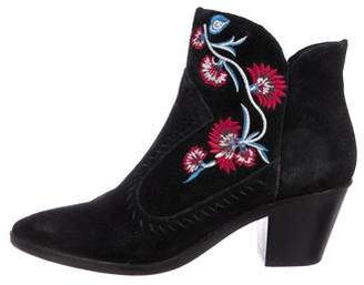 Rebecca Minkoff Embroidered Suede Boots