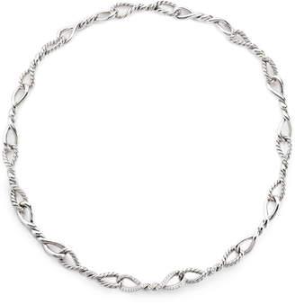 David Yurman Continuance Short Linked Necklace with Diamonds