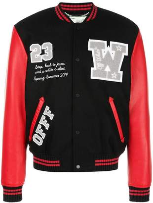 Off-White Varsity bomber jacket