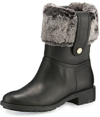 Cole Haan Breene Faux-Fur Boot, Black $350 thestylecure.com