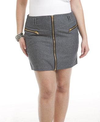 Forever 21 Faith21 Denim Herringbone Skirt