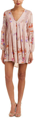 En Creme Floral Shift Dress