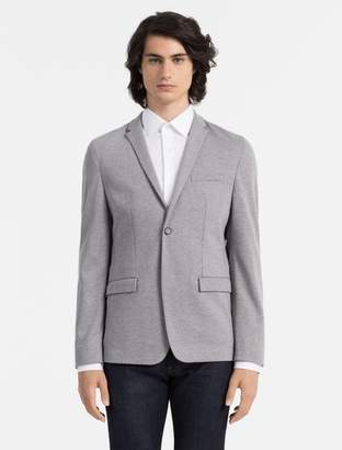 Calvin Klein slim fit cotton jersey blazer