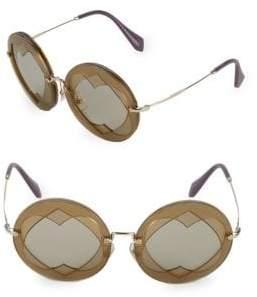 Miu Miu Heart Cut-Out 62MM Round Sunglasses