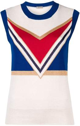 Bottega Veneta geometric tank top