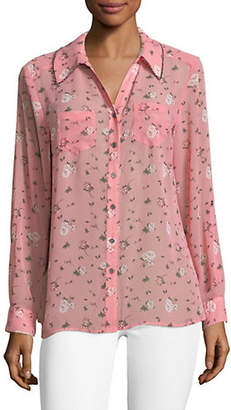 Style&Co. STYLE & CO. Floral Button-Down Shirt