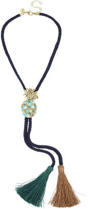 Libby Edelman Womens Brass Y Necklace