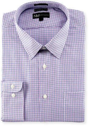 Neiman Marcus Classic-Fit Regular-Finish Micro Dobby Check Dress Shirt, Pink/Blue