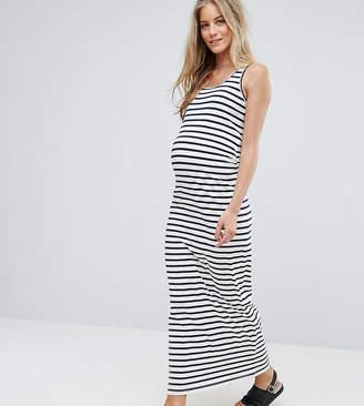 Mama Licious Mama.Licious Mamalicious maternity organic cotton striped bodycon maxi rress