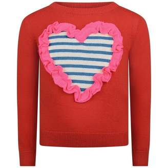 Billieblush BillieblushGirls Red Knitted Heart Sweater