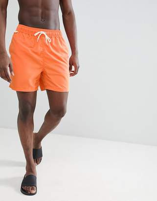 Penfield Seal Swim Shorts Small Logo in Orange