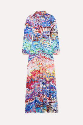 Mary Katrantzou Belle Printed Crepe De Chine Gown - Purple