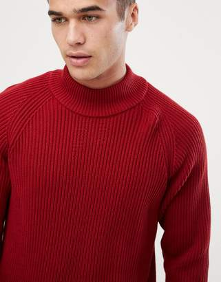 Selected high neck knitted sweater
