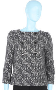 Marc by Marc Jacobs Double Breasted Lace Jacket - Black