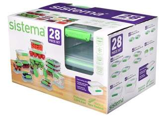 Sistema 28pc Food Storage Container Set Green