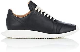 Rick Owens Men's Geometric-Sole Leather Sneakers - Black
