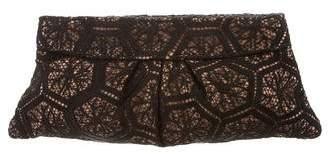 Lauren Merkin Pleated Lace Clutch