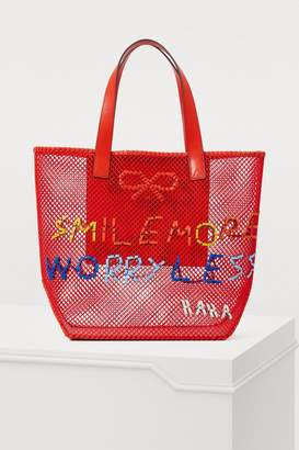 Anya Hindmarch Tote bag with leather embroidery
