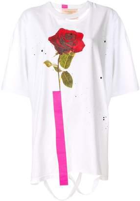 Night Market printed rose T-shirt