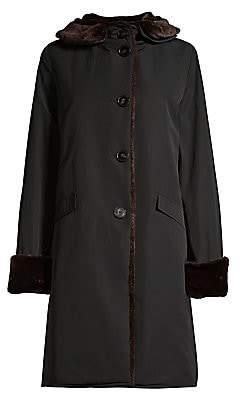 Jane Post Women's Faux Fur Pile Lined Storm Coat