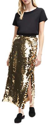 French Connection Emilia Sequin Midi Skirt