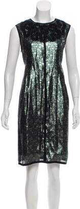 Marc Jacobs Metallic Knee-Length Dress