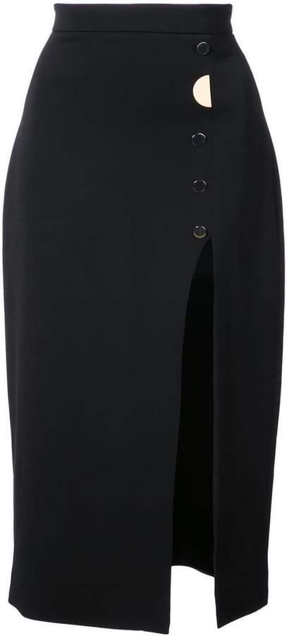 Cushnie et Ochs V-neck button detail dress