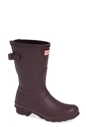 Hunter Short Back Adjustable Rain Boot