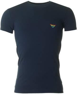 Emporio Armani Rainbow Eagle Crew Neck T-shirt